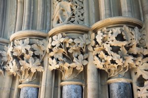 Leaf carvings at the Chapter House. Southwell Minster-