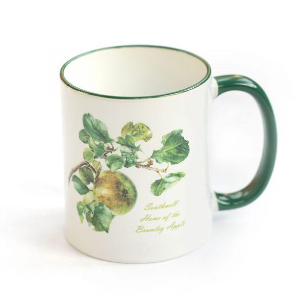 Bramley Apple Mug Green Handle