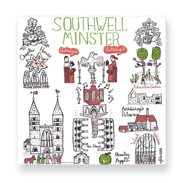 Southwell Minster Cityscape Greetings Card