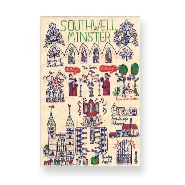 Southwell Minster Cityscape Wooden Postcard