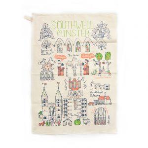 Tea Towel Southwell Minster Cityscape