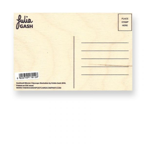 Wooden Postcard Reverse