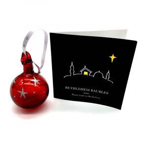 Bethlehem Bauble Red