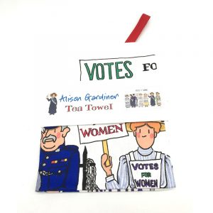 Alison Gardiner Suffragette Tea Towel