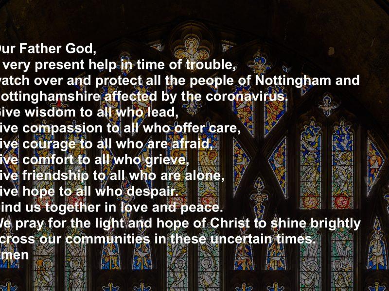 A prayer for Nottinghamshire