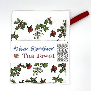 Alison Gardiner Tea Towel Holly and the Ivy