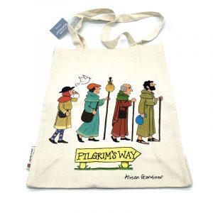 Alison Gardiner Tote Bag pilgrims on foot