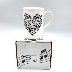 China Mug Heart of Notes