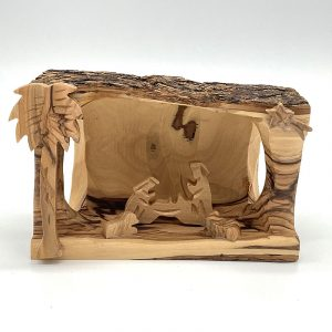 Fair Trade Olive Wood Bark Nativity