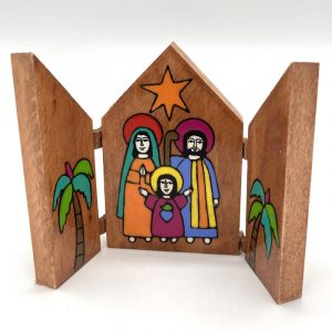 Fair Trade Painted Nativity 9cm