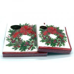Napkins Evergreen Wreath