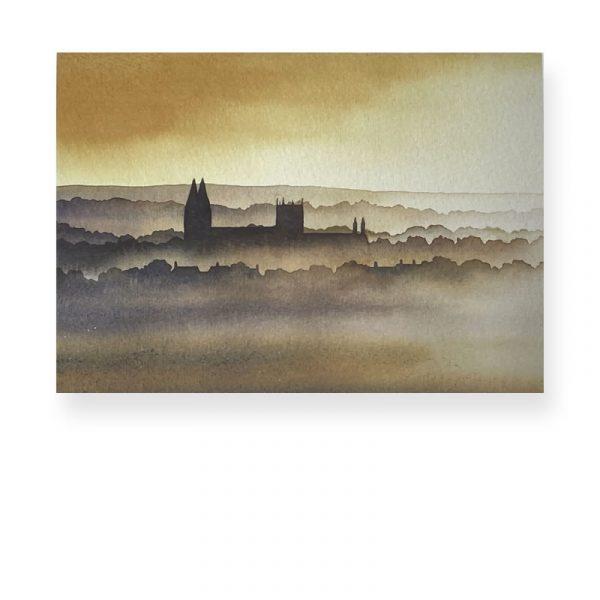 Southwell Minster by Ian Scott Maissie Christmas Card