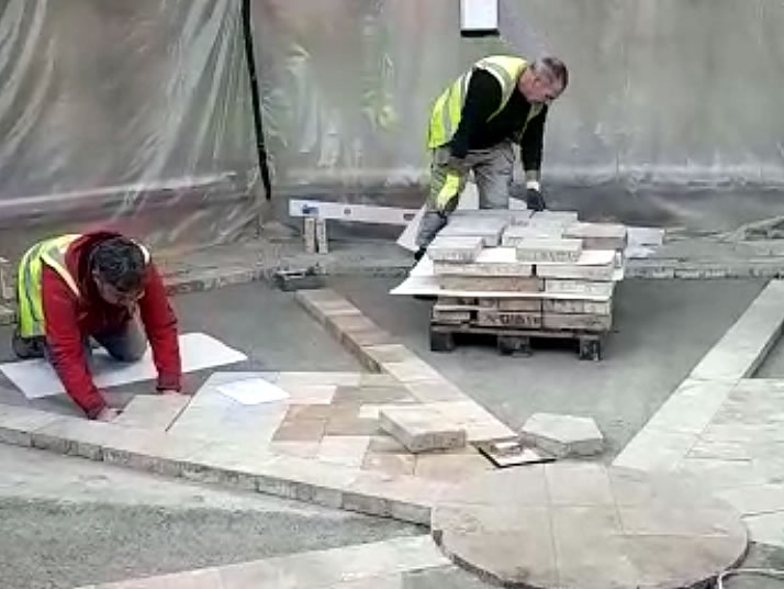 8: Relaying the stone floor