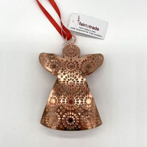 Copper Angel fair trade hanging decoration