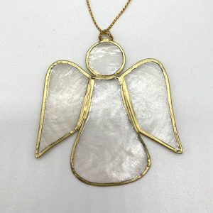 Fair trade Capiz hanging Angel