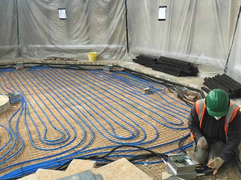 4: Underfloor heating