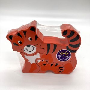 Ginger tabby cat puzzle fair trade wooden toy 38