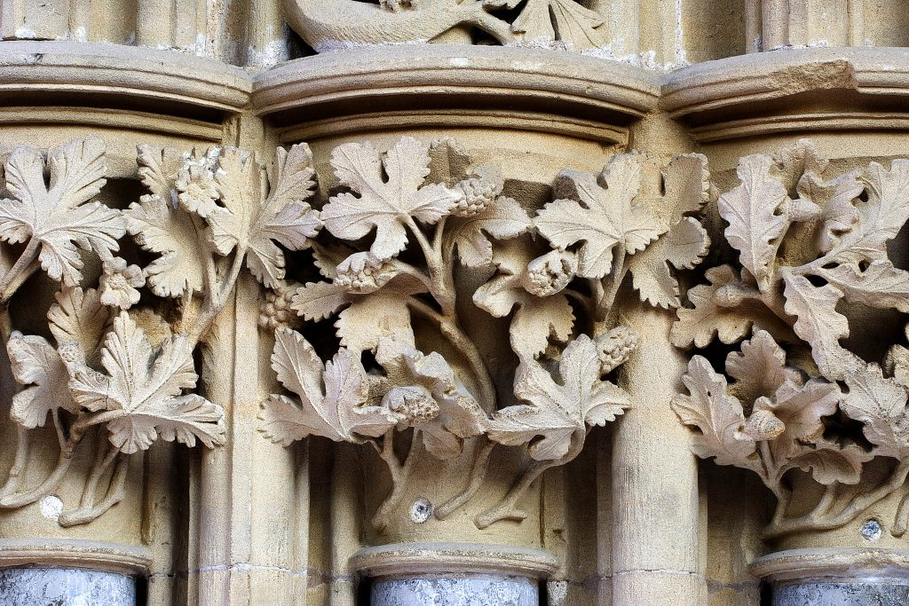 Close up of the Leave carvings