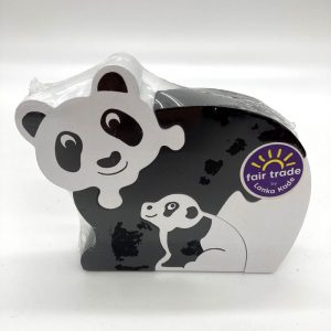 Panda puzzle fair trade wooden toy 39