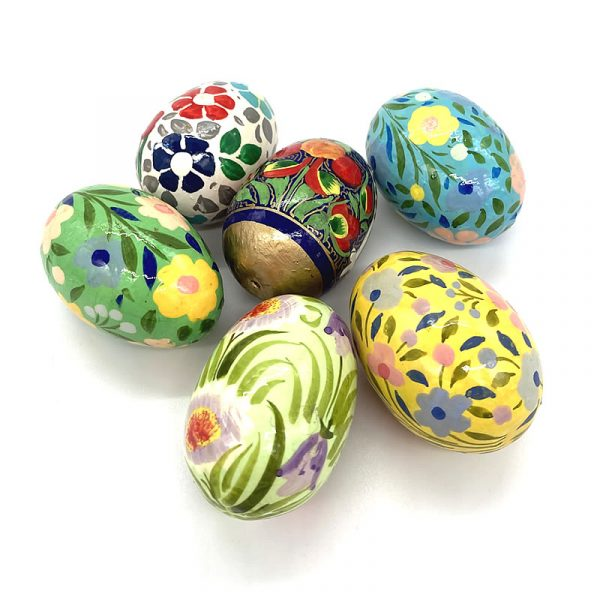 group of eggs fair trade papier mache 156