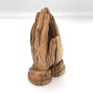 olive wood praying hands 16cm fair trade