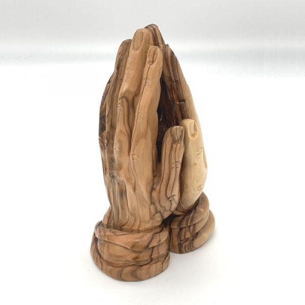 olive wood praying hands 16cm fair trade