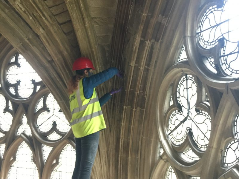 20: Cleaning and repairing delicate C13th stonework