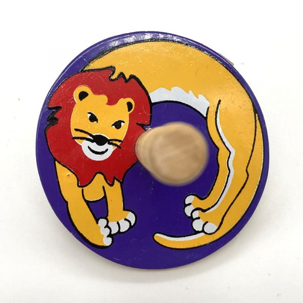 Lion spinning top