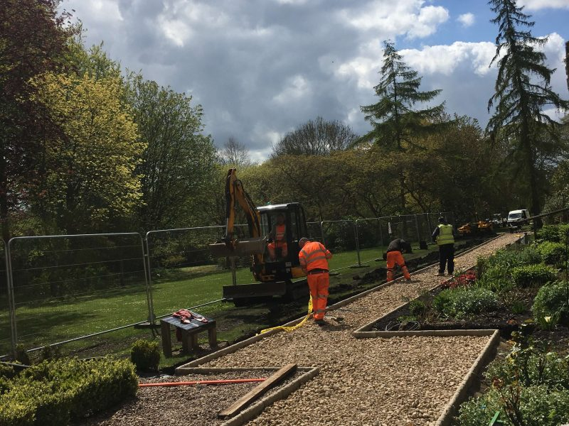 Work progresses to The Palace Garden