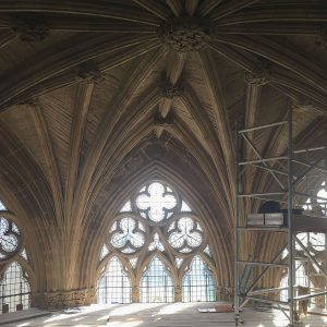 Chapter House Vaulting from scaffolding