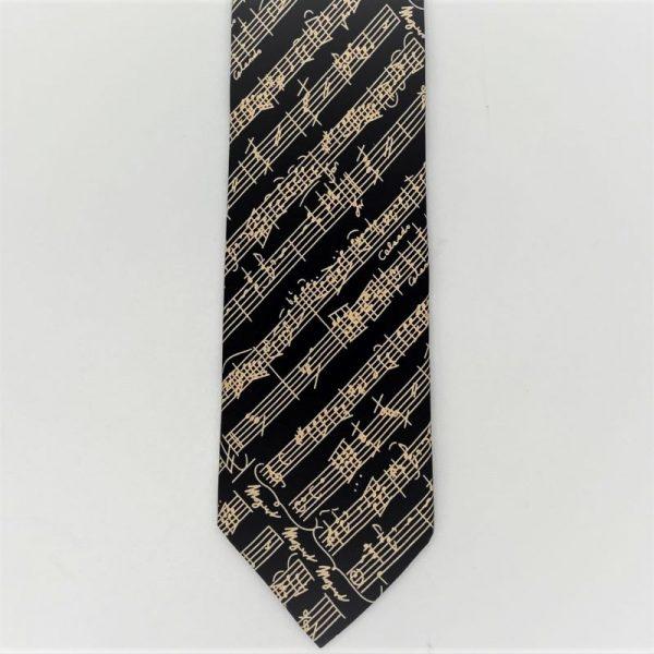 black manuscript tie